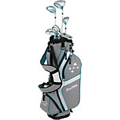 Tour Edge Women's Lady Edge 11-Piece Starter Set – Silver/Teal