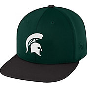 Top of the World Men's Michigan State Spartans Green/Black Eager Snapback Hat