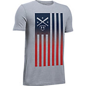 Under Armour Boys' Americana Baseball Flag Graphic T-Shirt