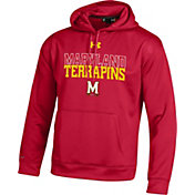 Under Armour Men's Maryland Terrapins Red Armour Fleece Hoodie