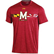 Under Armour Men's Maryland Terrapins Red Football Sideline Training T-Shirt
