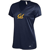 Under Armour Women's Cal Golden Bears Blue V-Neck Performance T-Shirt