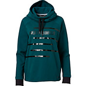 Under Armour Women's Threadborne Fleece Graphic Funnel Neck Sweatshirt
