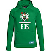 Under Armour Youth Boston Celtics Kelly Green Lockup Fleece Hoodie