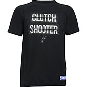 "Under Armour Youth San Antonio Spurs ""Clutch Shooter"" Black Tech Performance T-Shirt"