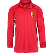 USC Authentic Apparel Men's USC Trojans Cardinal River Quarter-Zip Shirt