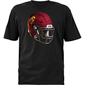 USC Authentic Apparel Youth USC Trojans Black Stealth Helmet Football T-Shirt