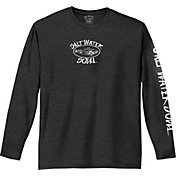 Salt Water Soul Men's Oval Logo Long Sleeve Shirt