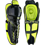 Warrior Junior Alpha QX5 Ice Hockey Shin Guards