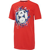 adidas Boys' Soccer Ball Graphic T-Shirt