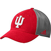 adidas Men's Indiana Hoosiers Crimson Mesh Back Structured Flex Hat