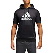 adidas Men's Sport ID Short Sleeve Hooded Pullover