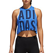 adidas Women's Cropped Graphic Tank Top