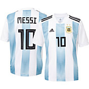 adidas Youth Argentina Lionel Messi #10 Stadium Home Replica Jersey