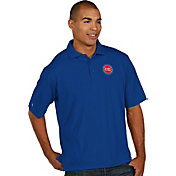 Antigua Men's Detroit Pistons Xtra-Lite Royal Pique Performance Polo
