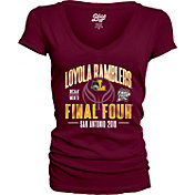 Blue 84 Women's Loyola Chicago Ramblers Maroon 2018 Final Four Basketball V-Neck T-Shirt
