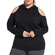 CALIA by Carrie Underwood Women's Plus Size Effortless Cold Shoulder Hoodie