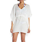 CALIA by Carrie Underwood Women's Kaftan Solid Cover Up