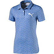PUMA Girls' Polka Dot Golf Polo