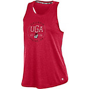 Champion Women's Georgia Bulldogs Red Epic Traverse Performance Tank Top