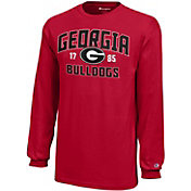 Champion Youth Georgia Bulldogs Red Long Sleeve Jersey T-Shirt