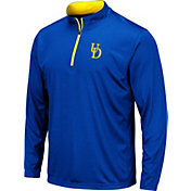 Colosseum Men's Delaware Fightin' Blue Hens Blue Embossed Quarter-Zip Performance Shirt