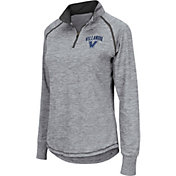 Colosseum Women's Villanova Wildcats Grey Bikram Quarter-Zip Top
