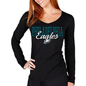 Concepts Sport Women's Philadelphia Eagles Script Long Sleeve Black Shirt
