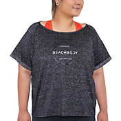 Beachbody Women's Plus Size Energy Barcode Layering T-Shirt