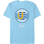 Fifth Sun Men's 2018 FIFA World Cup Uruguay Contrast Round Blue T-Shirt