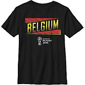 Fifth Sun Youth 2018 FIFA World Cup Belgium Slanted Black T-Shirt