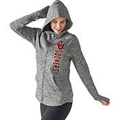 G-III For Her Women's Oklahoma Sooners Grey Defender Full-Zip Hoodie