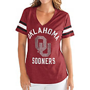 G-III For Her Women's Oklahoma Sooners Crimson Wildcard V-Neck T-Shirt
