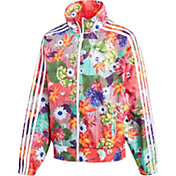 adidas Originals Girls' Floral Graphic Windbreaker Jacket