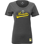 Levelwear Women's Nashville SC Script Heather Grey T-Shirt