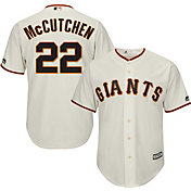 Majestic Men's Replica San Francisco Giants Andrew McCutchen #22 Cool Base Home Ivory Jersey
