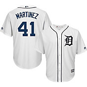 Majestic Men's Replica Detroit Tigers Victor Martinez #41 Cool Base Home White Jersey