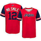 Majestic Youth Cleveland Indians Francisco Lindor 'Mr. Smile' MLB Players Weekend Jersey Top