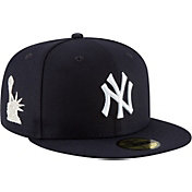 New Era Men's New York Yankees 59Fifty Navy Fitted Hat w/ Statue of Liberty Patch