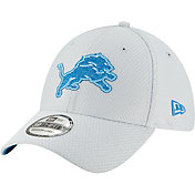 New Era Men's Detroit Lions Sideline Training Camp 39Thirty Grey Stretch Fit Hat