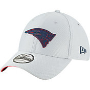 New Era Men's New England Patriots Sideline Training Camp 39Thirty Grey Stretch Fit Hat