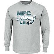 NFL Men's NFC Conference Champions Philadelphia Eagles Wonderstruck Grey Long Sleeve Shirt