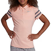 Nike Girls' Short Sleeve Dot Golf Polo
