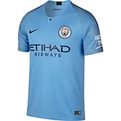 Nike Men's Manchester City 2018 Breathe Stadium Home Replica Jersey