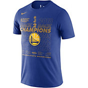 Nike Men's 2018 NBA Champions Golden State Warriors Royal Locker Room T-Shirt