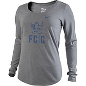 Nike Women's FC Cincinnati Wordmark Grey Slub Long Sleeve Shirt