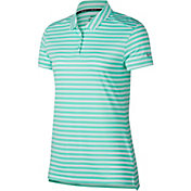 Nike Women's Dry Short Sleeve Striped Golf Polo