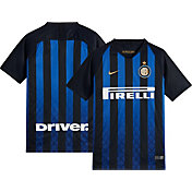 Nike Youth Inter Milan 2018 Breathe Stadium Home Replica Jersey