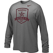 Nike Youth Sacramento Republic FC Logo LegendHeather Grey Performance Long Sleeve Shirt