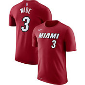 Nike Youth Miami Heat Dwyane Wade #3 Dri-FIT Red T-Shirt